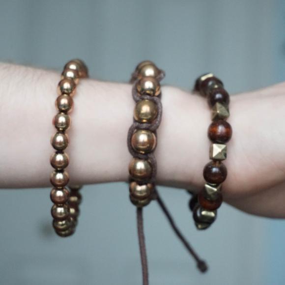 Aldo Jewelry - Brown BOHO style bracelets